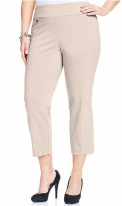 Alfani Plus & Petite Plus Size Tummy-Control Capri Pants