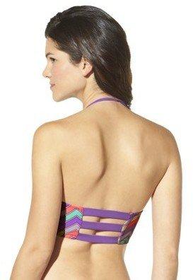 Junior's Geometric Print Midkini Swim Top -Multicolor