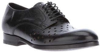 Paul Smith perforated Derby shoe