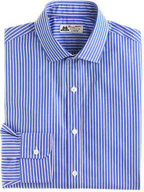 Thomas Mason for J.Crew spread-collar dress shirt in blue bengal stripe