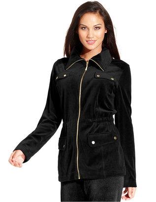 Style&Co. Sport Jacket, Velour Anorak