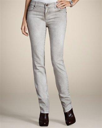 Chico's Platinum Denim Emblem Slim Leg Jean