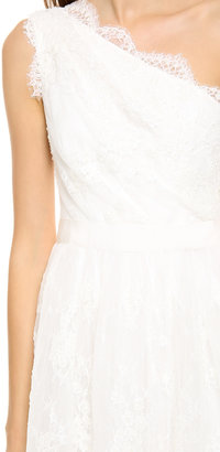 Marchesa Embroidered Lace Dress