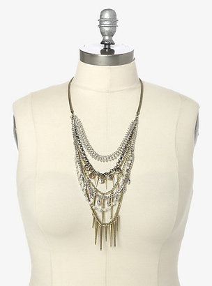 Torrid Multi-Chain Spiked Statement Necklace