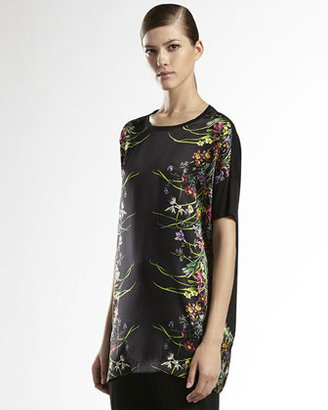Gucci Tiger Flower-Print Oversized T-Shirt