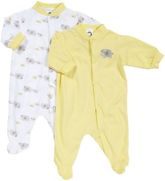 Gerber 2 Pack Sleep N Play Snap Front (Baby) - Yellow-0-3 Months