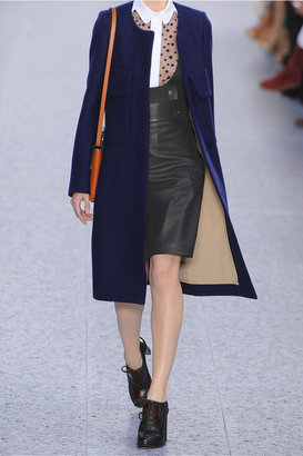 Chloé Leather pinafore skirt