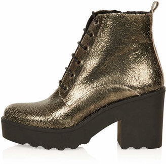 Topshop Apples chunk lace up boots