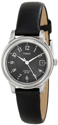 Timex Women's T29291 Elevated Classics Dress Black Leather Strap Watch $31.99 thestylecure.com