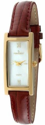 Peugeot Women's 3017BR Gold-Tone Leather Strap Watch