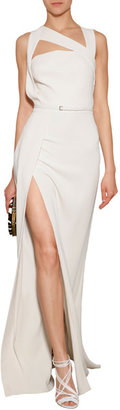 Elie Saab Silk Evening Gown with Cut-Outs