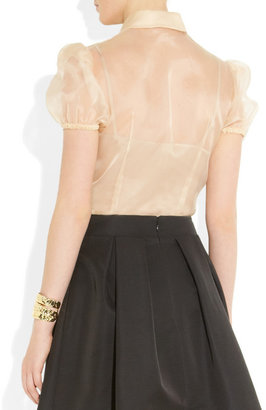 RED Valentino Ruffle-front organza blouse