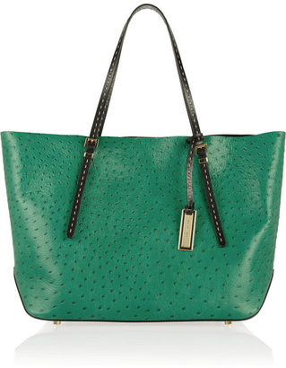 Michael Kors Gia ostrich-effect leather shopper