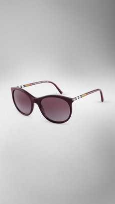 Burberry Check Detail Cat-Eye Sunglasses