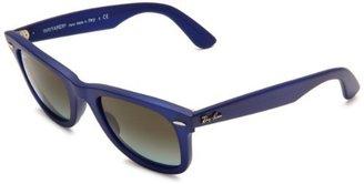 Ray-Ban RB2140 Original Wayfarer Square Sunglasses,Matte Blue Frame/Sky Blue Lens,50 mm