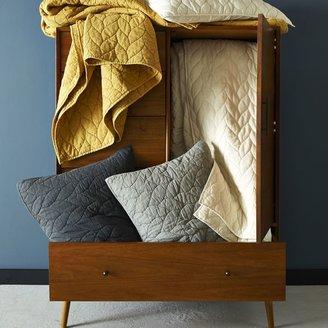 west elm Braided Quilt + Shams - Ivory