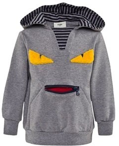 Fendi Grey Monster Mouth Hoody