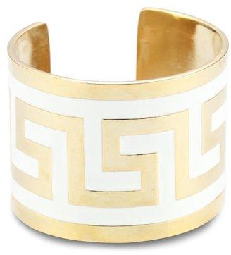 "Lisa Stewart Modern Myth"" 14k Gold-Plated White Cuff-Bracelet"