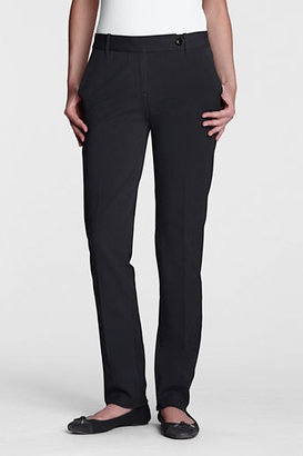 Lands' End Women's Regular Pre-hemmed Original Bi-Stretch Straight Leg Pants