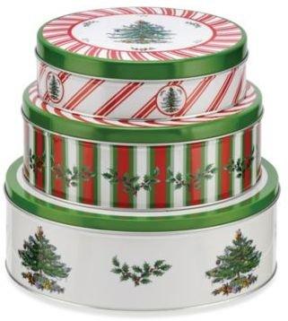 Spode Christmas Tree Nesting Tins (Set of 3)