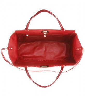 Valentino Rockstud Rouge leather tote