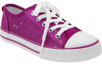 Old Navy Girls Glitter-Canvas Sneakers