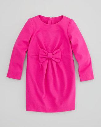 Milly Minis Blair Bow Ponti Dress, Pink, Sizes 2-6