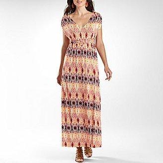 JCPenney St. Johns Bay® Print Tie Waist Kimono Maxi Dress
