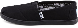 Toms Classic Canvas Slip-On, Black, Youth