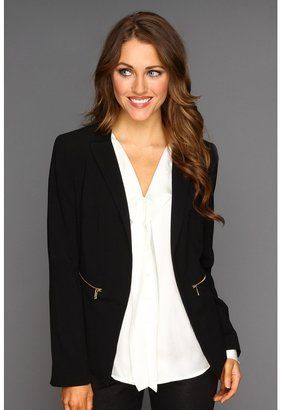 Calvin Klein Jacket w/ Gold Zippers (Black) - Apparel