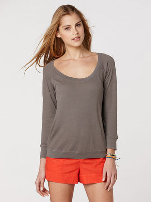 C&C California 3/4 Sleeve Deep U-Neck Top