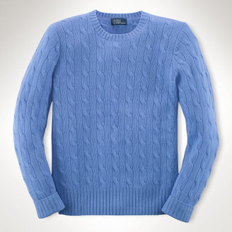 Ralph Lauren 8-20 Cabled Cashmere Sweater