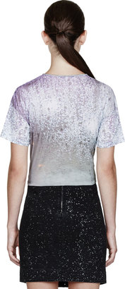 Carven Purple Ombre Drops Print T-Shirt