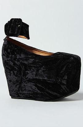Jeffrey Campbell The Pointe Shoe in Black Velvet
