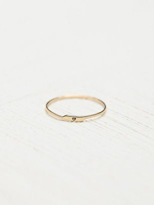Free People Bittersweet Etched Letter Ring