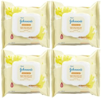 Johnson & Johnson Johnson's Baby Hand & Face Wipes - 25 ct - 4 pk