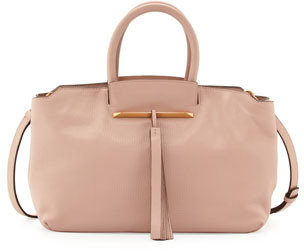 Brian Atwood Gena East/West Satchel Bag, Nude