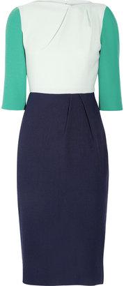 Roksanda Ilincic Beatrice color-block wool-crepe dress