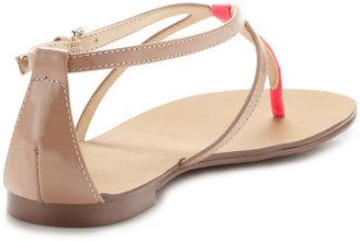 Boutique 9 Palanee Patent Flat Sandal, Natural