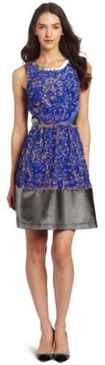 Tracy Reese Women's Combo Frock with Lame Trim