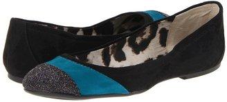 Jessica Simpson Marlio (Black/Midnight/Emerald Kid Suede) - Footwear