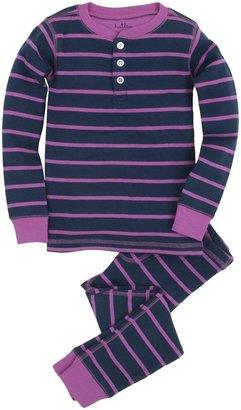 Hatley Henley PJ Set (Toddler/Kid) - Blue/Pink-6