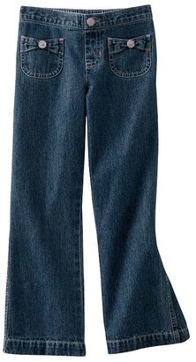 Jumping beans bow accent jeans - girls 4-7