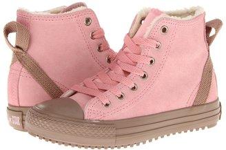 Converse Chuck Taylor All Star Hollis Hi (Toddler/Youth) (Quartz Pink/Egret) - Footwear