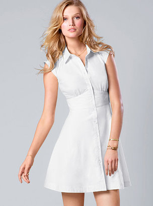 Victoria's Secret Sheer-panel Shirtdress