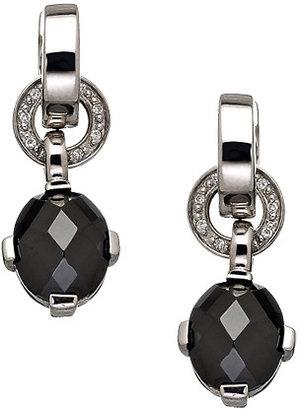 Giorgio Martello Milano Black CZ Pave Dangle Earrings
