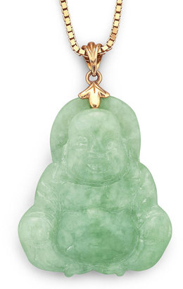 FINE JEWELRY Genuine Jade Buddha Pendant Necklace 14K Yellow Gold Over Silver $145.81 thestylecure.com