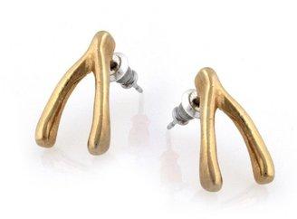 Belle Noel by Kim Kardashian Wishbone Stud Earrings