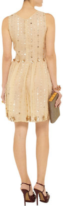 RED Valentino Embellished silk-organza dress