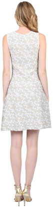 Shoshanna Becky Sweater Dress in White/Silver